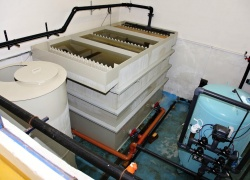 Kalová nádrž pro úpravnu vody