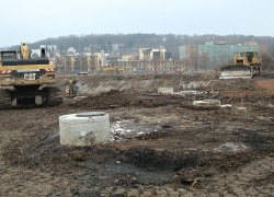 Odtěžba kontaminované zeminy